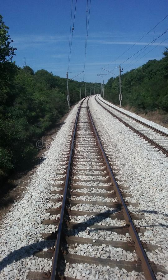 Balkan rails royalty free stock photo