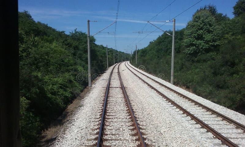 Balkan rails stock photo