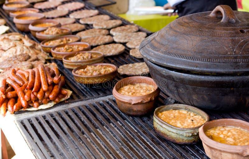 Balkan snel voedsel stock fotografie