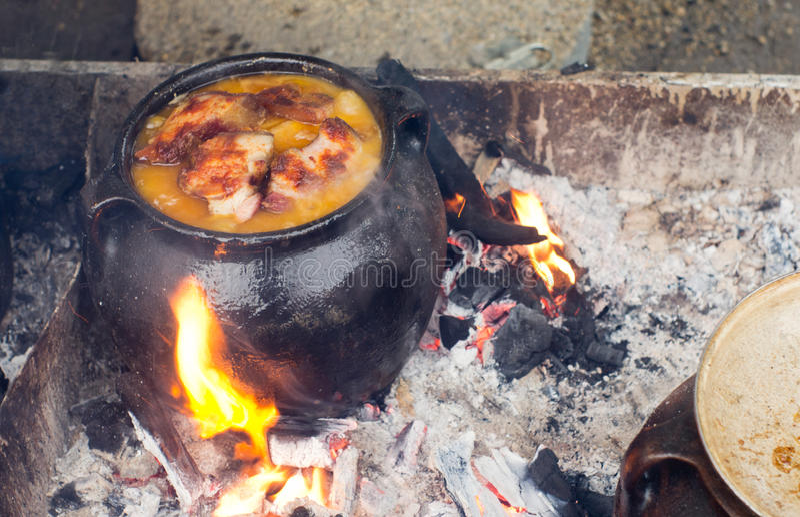 Balkan traditionell fet mat royaltyfria bilder