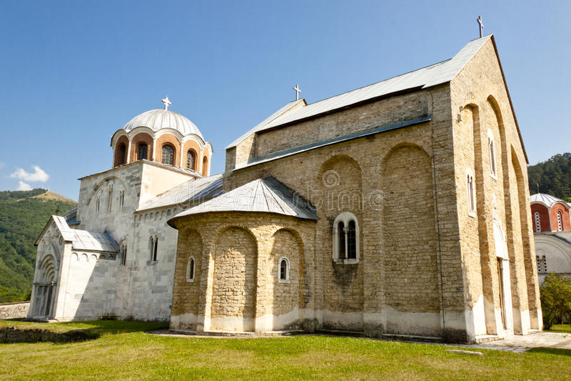 balkans monasteru Serbia studenica obraz stock