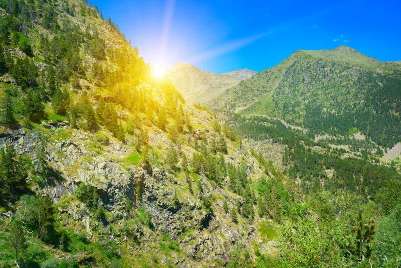 balkariya bezengi Caucasus gór kabardino piękny wschód słońca zdjęcia stock