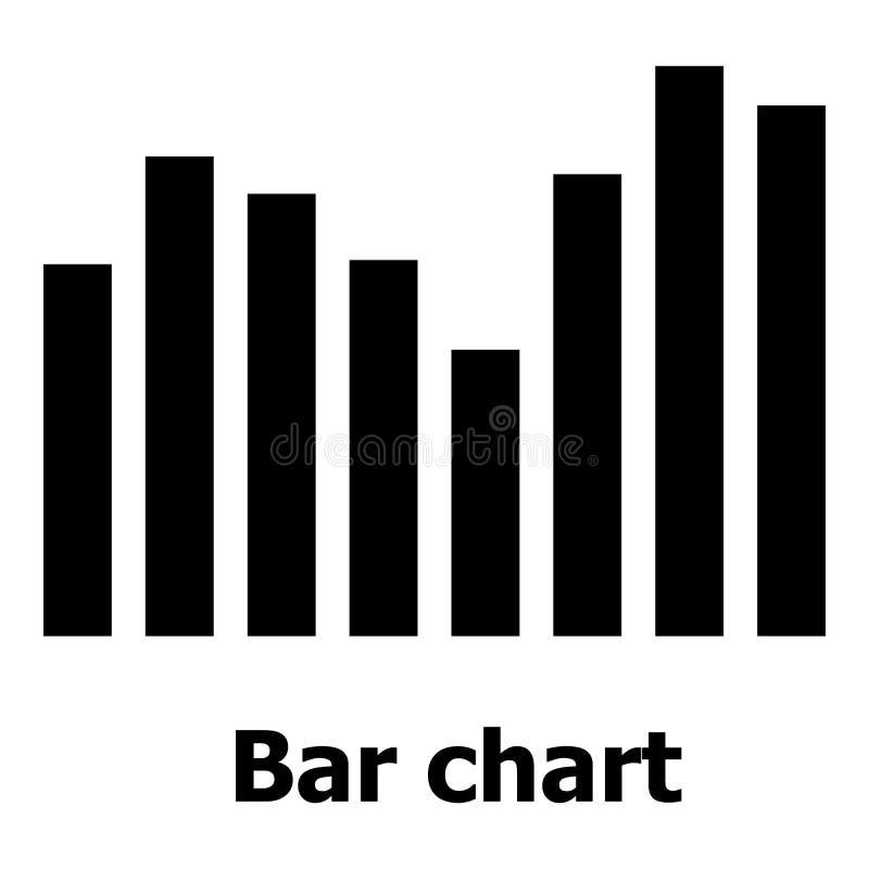 Balkendiagrammikone, einfache Art vektor abbildung