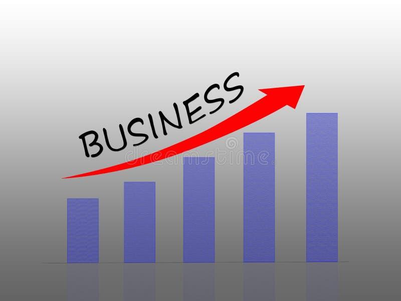 Balkendiagrammvertretungsgeschäftswachstum stock abbildung