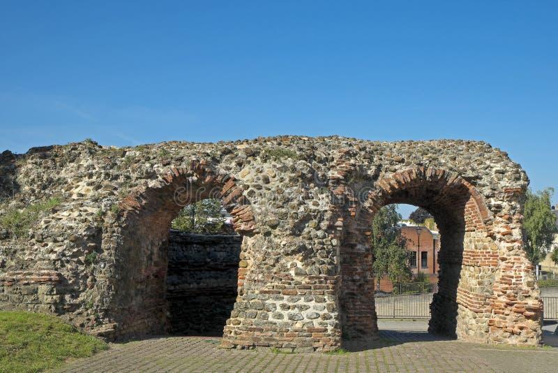 Balkerne门,科尔切斯特,艾塞克斯,英国 免版税库存图片