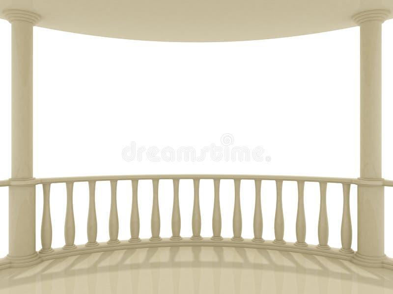 balkon ilustracja wektor