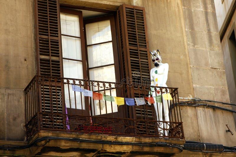 Balkon - Barcelona stock foto's
