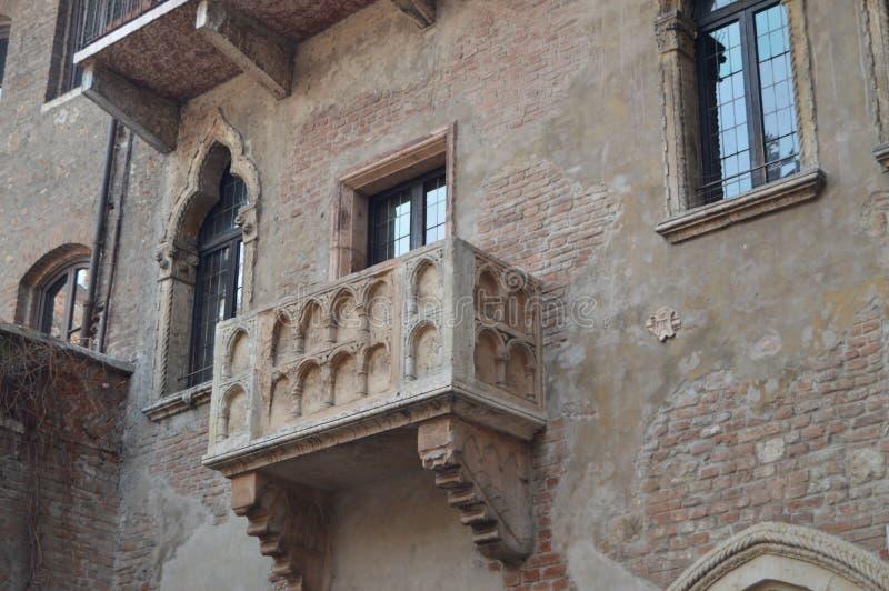 Balkon Juliet dom W Verona obrazy royalty free