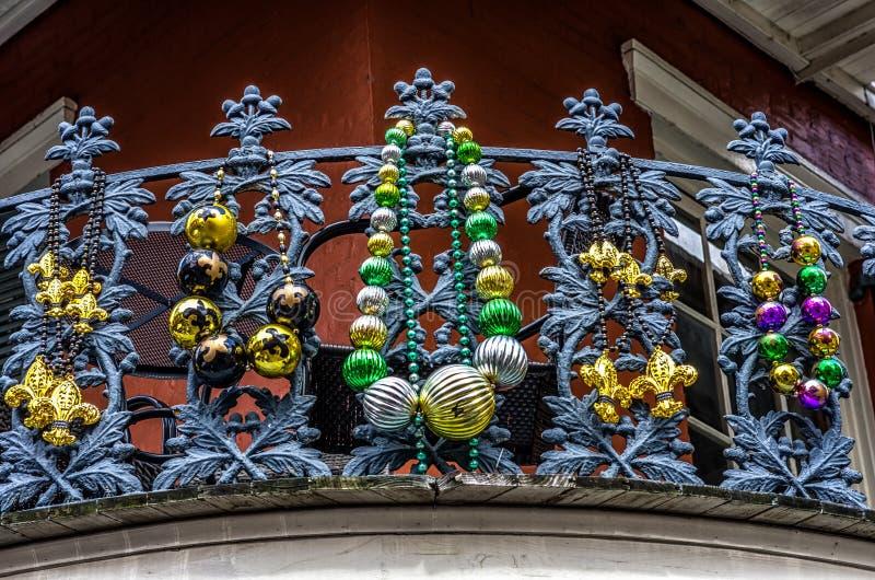 Balkon mit Perlen lizenzfreies stockbild
