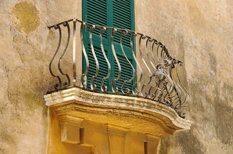 Balkon Mittelmeer stockbild