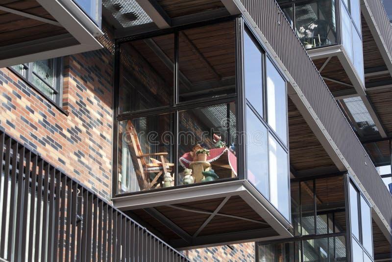 Balkon Op Een Serre Stock Afbeelding. Afbeelding Bestaande