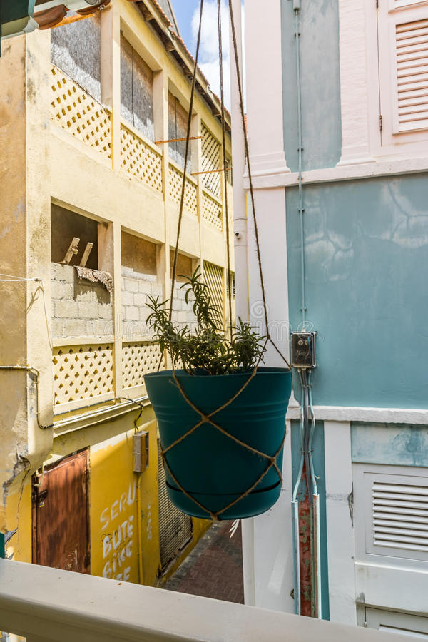 Balkon - Punda Curacao widoki obraz royalty free