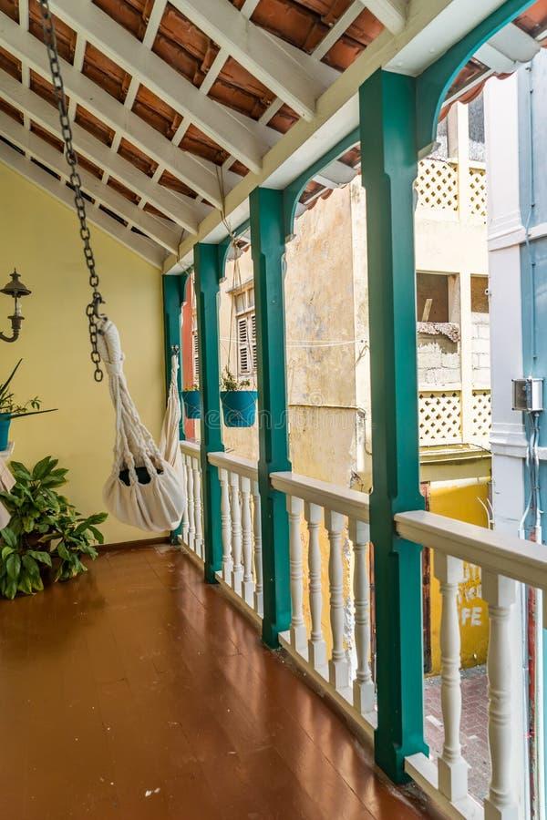 Balkon - Punda Curacao widoki zdjęcia stock