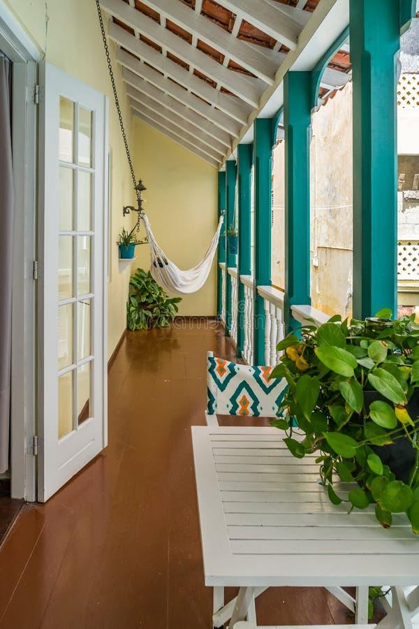 Balkon - Punda Curacao widoki zdjęcie royalty free