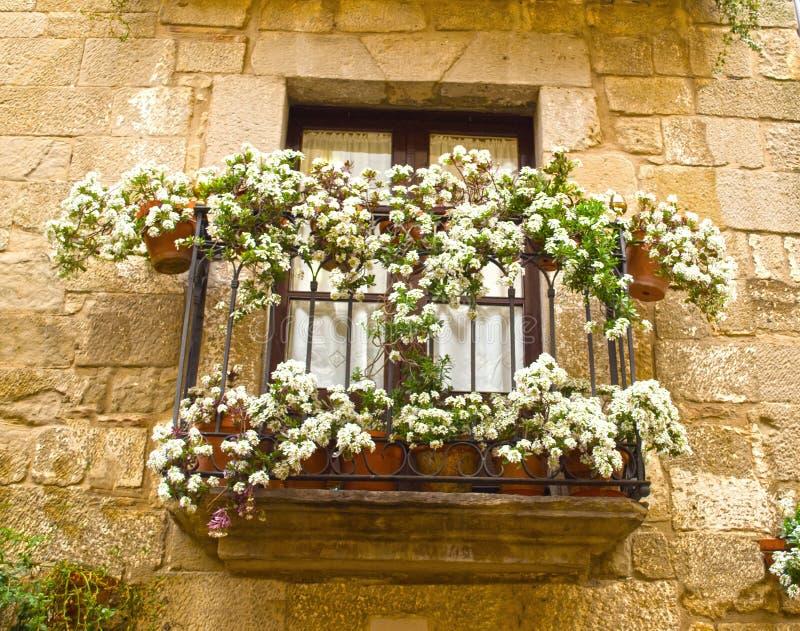 Balkon in Sos del rey calolico, Spanje stock afbeeldingen