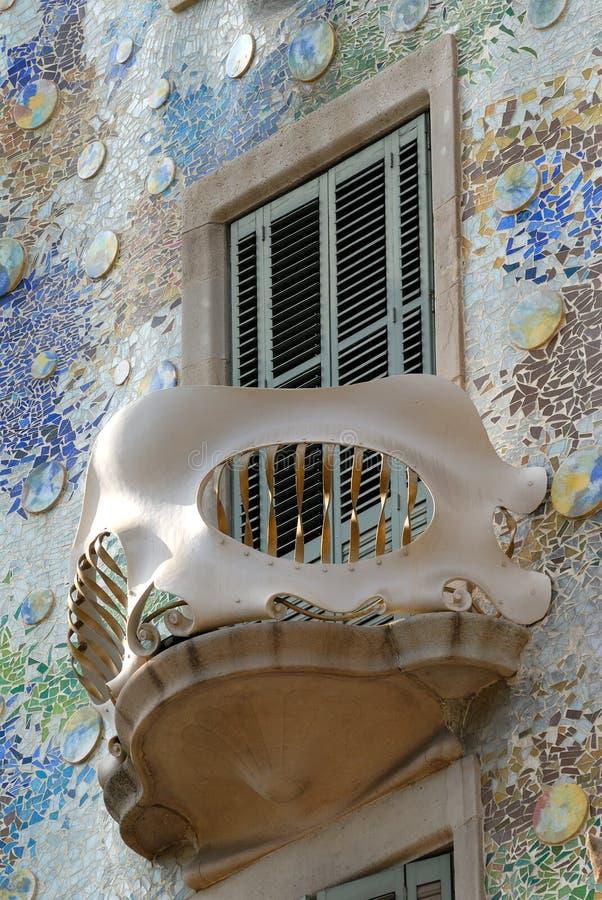 Balkon van Casa Batllo, Barcelona stock fotografie