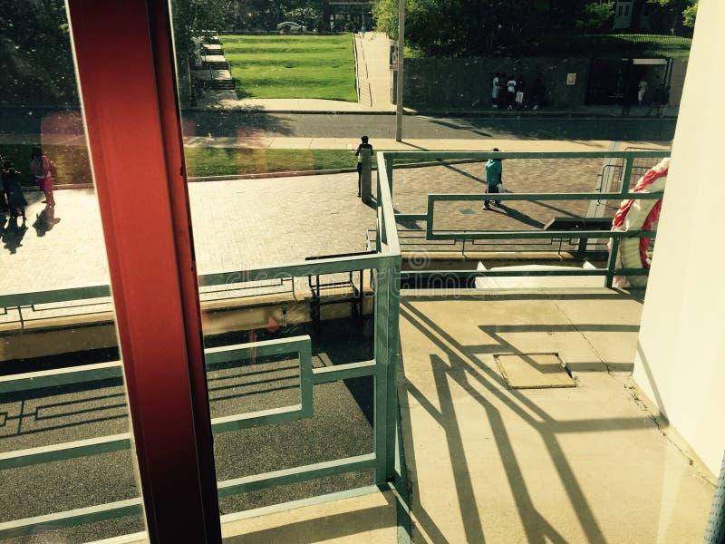 Balkon van Lorraine Motel royalty-vrije stock afbeelding