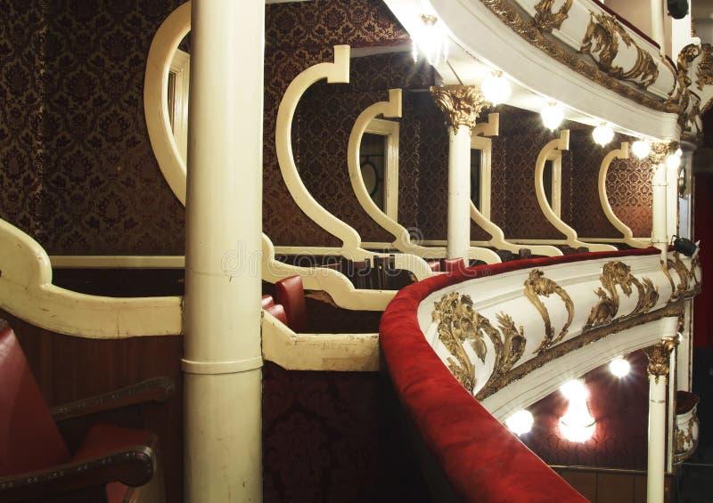 Balkon van oud theater royalty-vrije stock foto's
