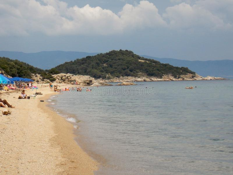 Balkonaki beach, Greece royalty free stock images