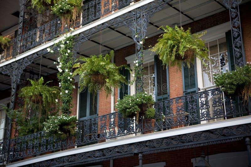 Balkone in New Orleans stockfotos