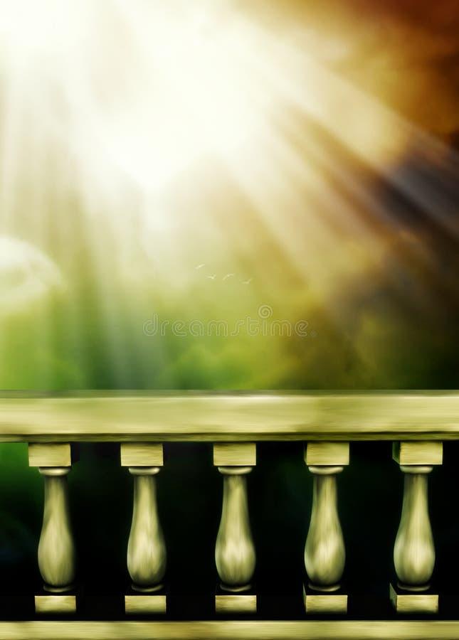 balkong royaltyfri illustrationer