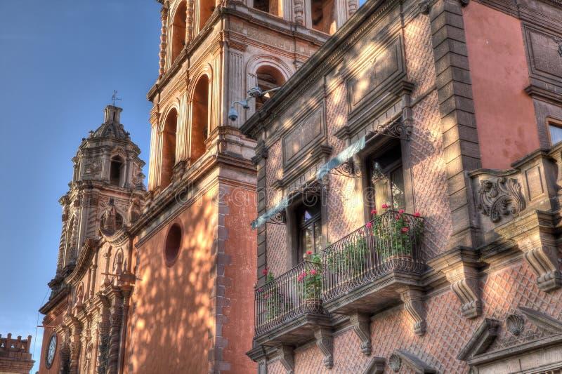 Balkong av San Luis Potosi, Mexico arkivbilder