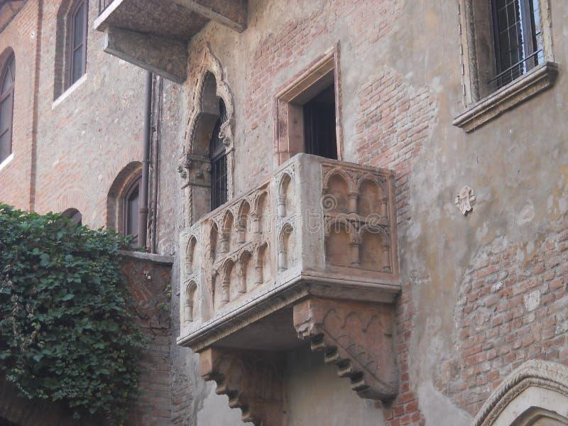 Balkong för Juliet ` s i Verona royaltyfri bild