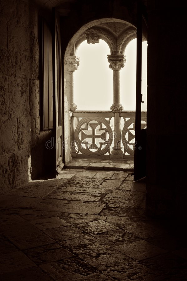 balkong till världen arkivbilder
