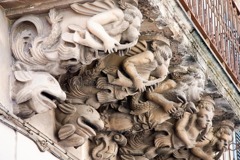 balkongbarockstil royaltyfri bild