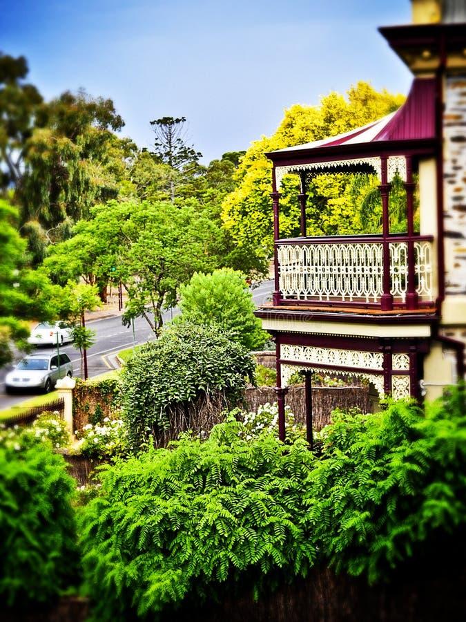 Balkongen arkivfoto