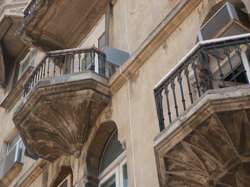 balkonger royaltyfri fotografi