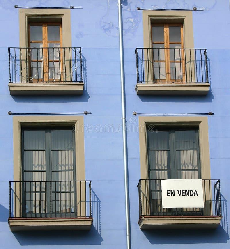 balkonger catalonia spain fotografering för bildbyråer