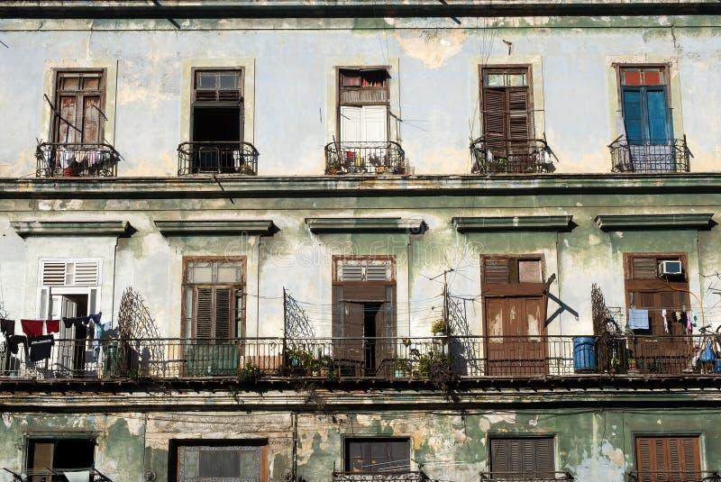 balkonger cuba havana royaltyfria foton