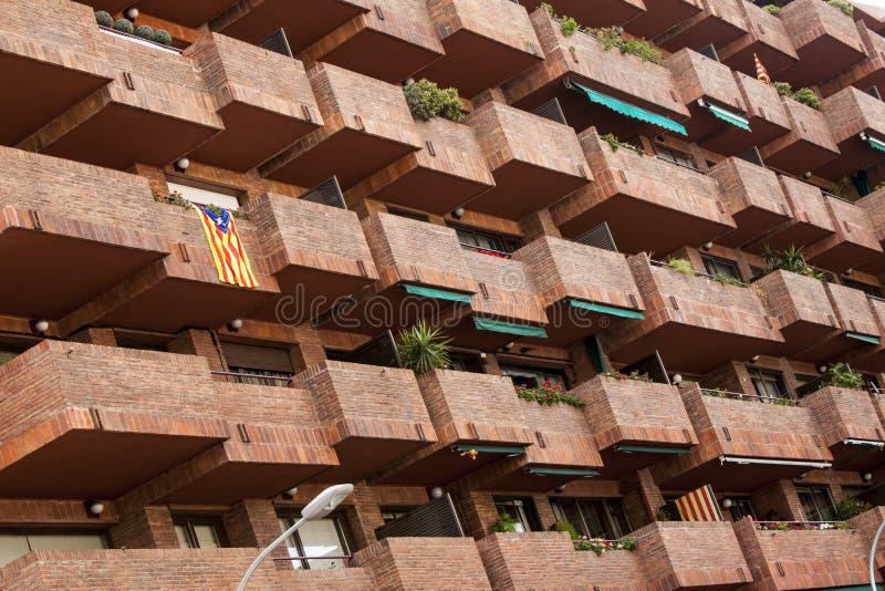 Balkonger och terrasser royaltyfria foton