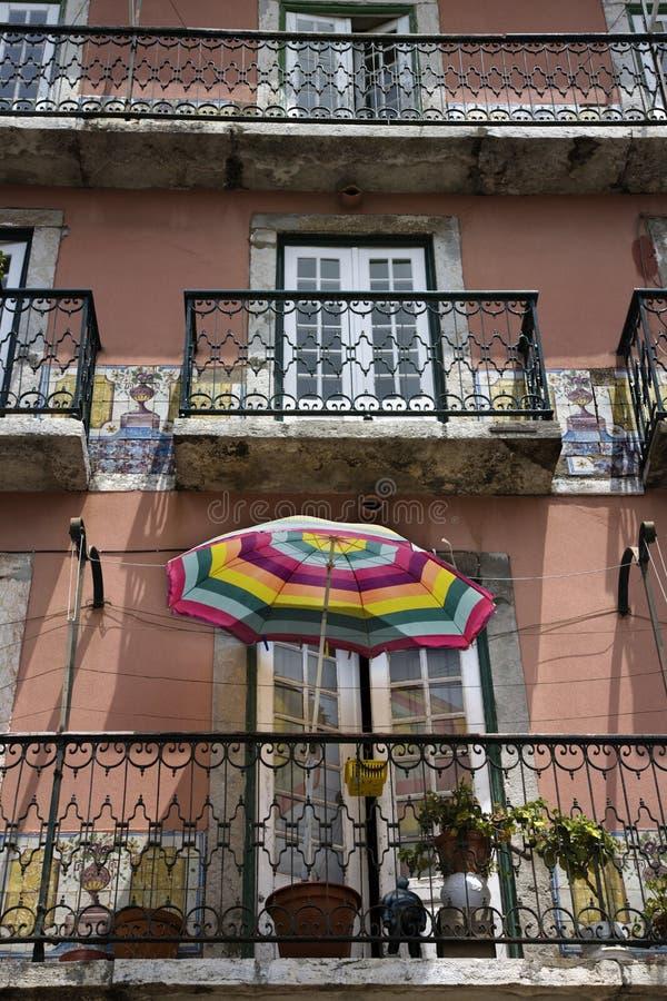 balkonger som bygger portugal fotografering för bildbyråer