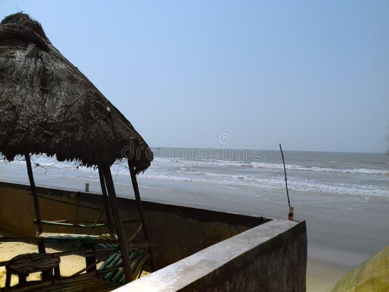 Balkongframdelen av havet arkivfoto