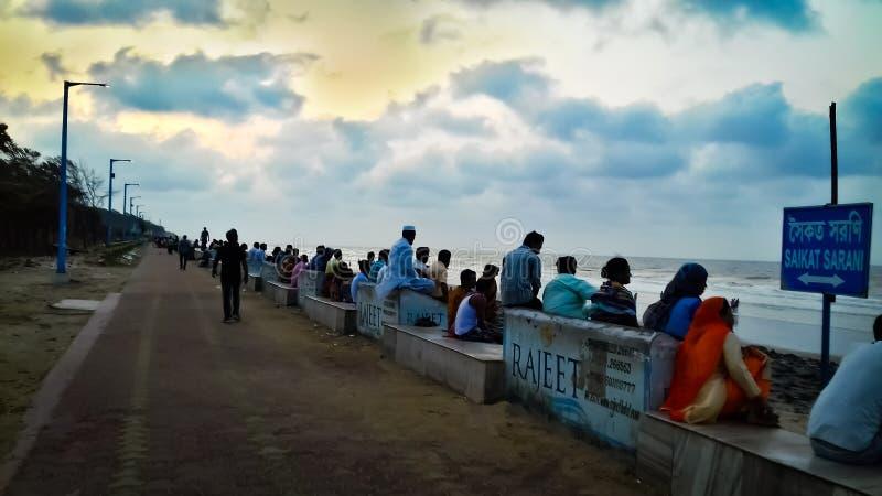 Balkongframdelen av havet royaltyfri bild