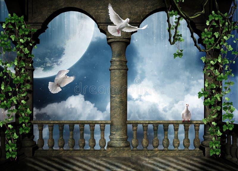 balkonowa fantazja royalty ilustracja