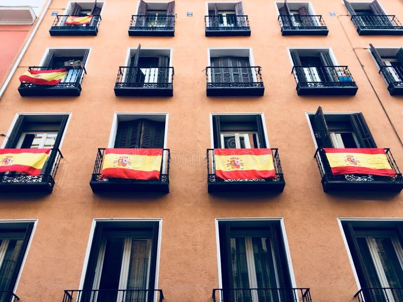 Balkonowa Hiszpania niezależność zdjęcia stock