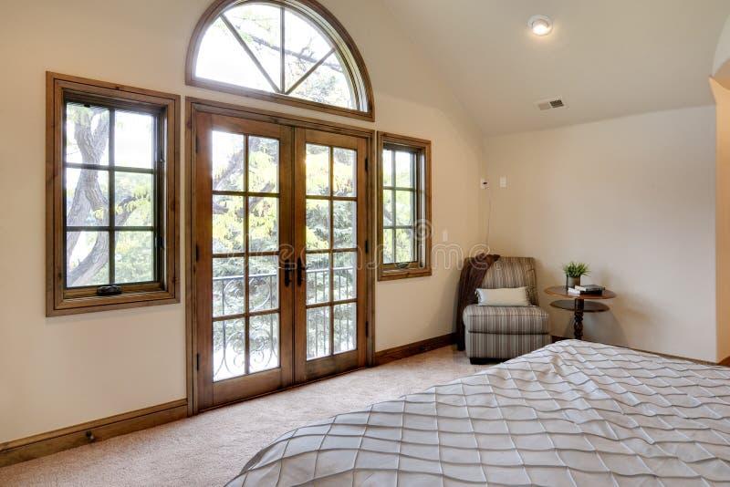 balkonowa sypialnia zdjęcie stock