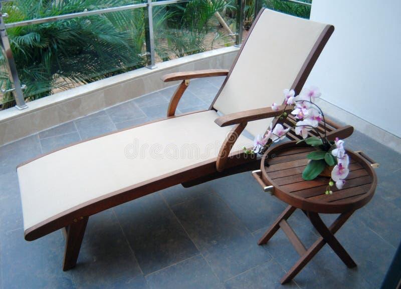 balkonowy krzesło obraz royalty free