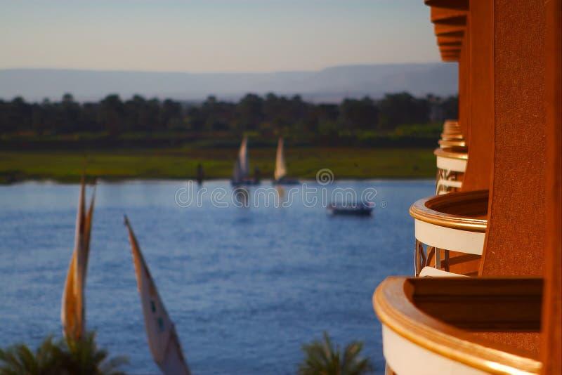 balkonowy Luxor Nilu fotografia royalty free