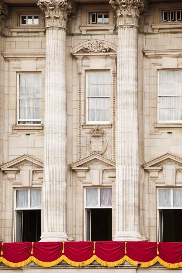balkonowy pałac buckingham obraz stock