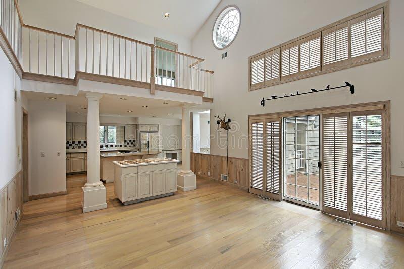 balkonowy rodzinny pokój fotografia stock