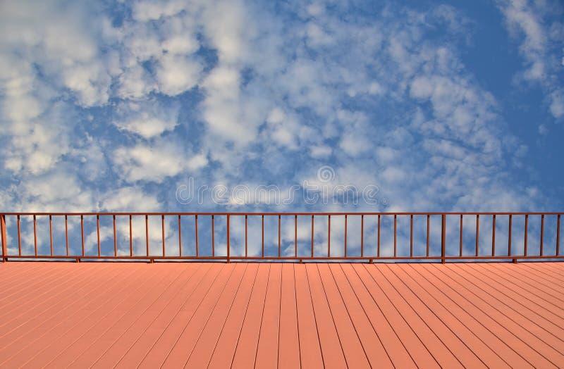 Balkonowy widok niebo obrazy stock