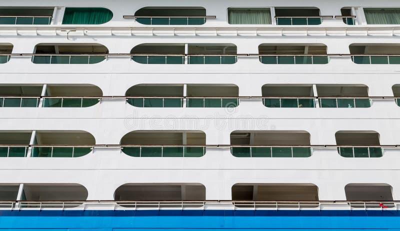 Balkons boven Blauw Waterdicht schot royalty-vrije stock fotografie