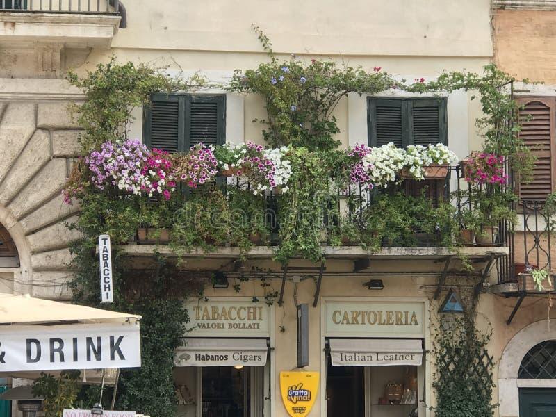 Balkons in Rome royalty-vrije stock afbeelding