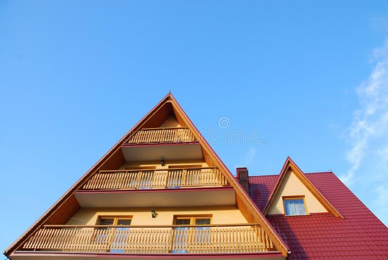 balkonu dach fotografia stock