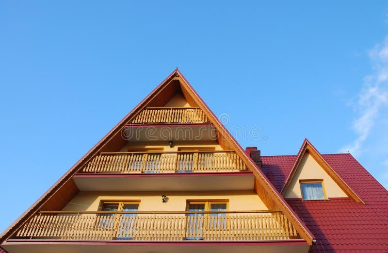 balkonu dach zdjęcia stock