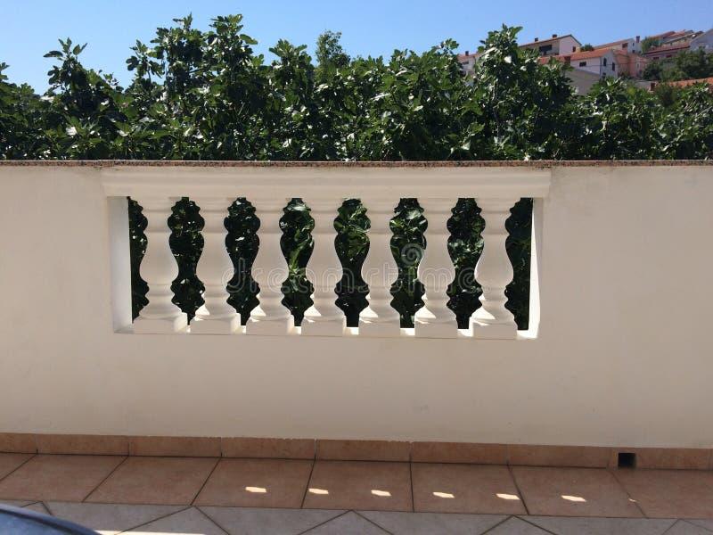 Balkonu ogrodzenie obrazy royalty free